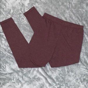 Mauve heathered leggings